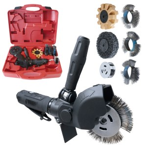 GYS AIR SANDER TOOL KIT PNEUMATIC SCRAPER IN CASE WITH ACCESSORIES