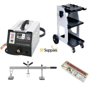 GYS NEW STYLE GYSPOT 39.02 KIT with 800 Trolley, Double Action Levelling Bar and Accessory Box
