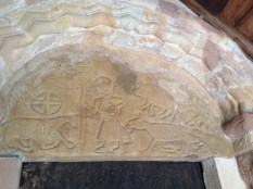 Anglo-Saxon carving: wolf and sheep?
