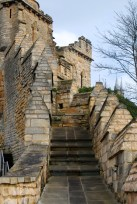 Steps along the medieval wall at Lincoln Castle.