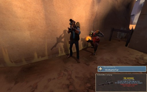 """Valve needs to go back in time and give this Pyro a free """"Killcam Taunts"""" Strange part. Picture by lord_beklanaze."""