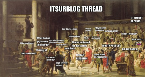 The itsurblog thread has a community, a community comprising mainly of SPUFers who are giving back to the community in some other way. Is one thread so much to ask? Picture by Jay Dorris.