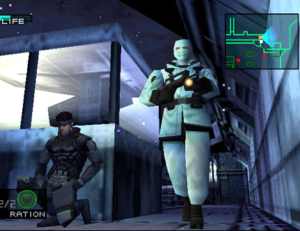 Here's a screenshot from Metal Gear Solid. I would probably get lynched were I not to mention Metal Gear in this article, but I've never player nor know anything about it so it's not appearing for the rest of this article, so sorry. Picture from article by Nick Maizlin.