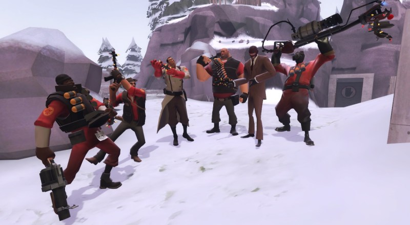 Festive Weapons! Not including Soldier and Engy, who share with Heavy, and Scout, because fuck Scout.