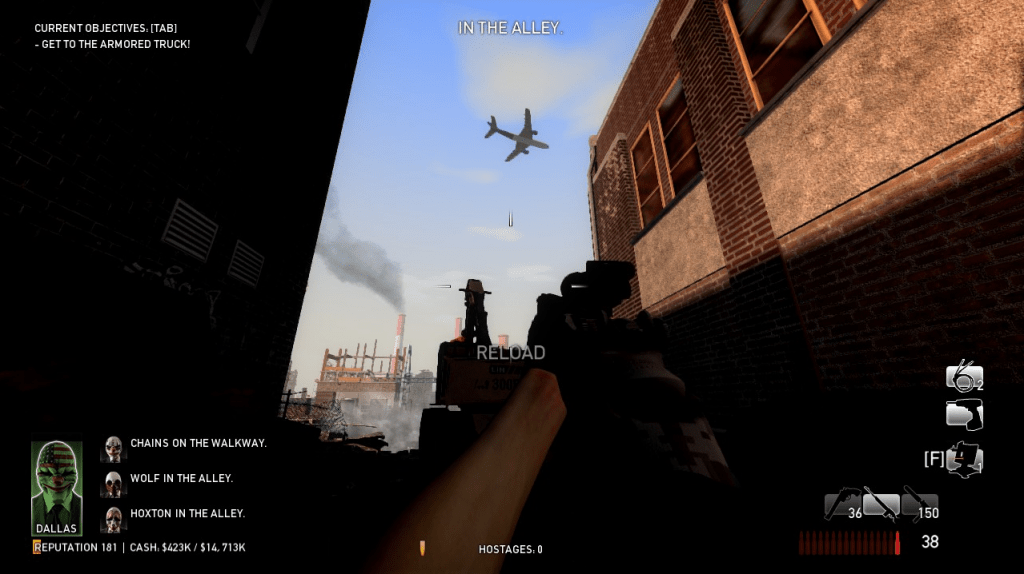 Holy, is that a plane? That has nothing to do with the heist!