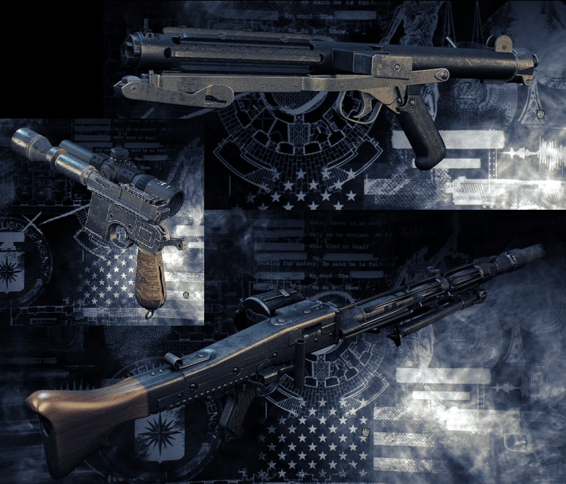 It's also the secret Star Wars DLC; Overkill added mods that let you make recreations of several guns from the original trilogy.