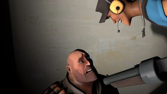 Heavy is scared by scout and his scattergun. For a good reason.