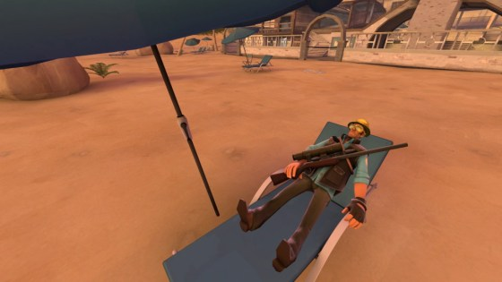 Sniper's just laying on the sun. Being the most broken class takes a lot of power amirite?