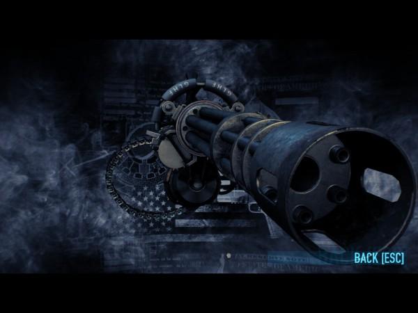 The Vulcan Minigun, with aerial assault barrel.