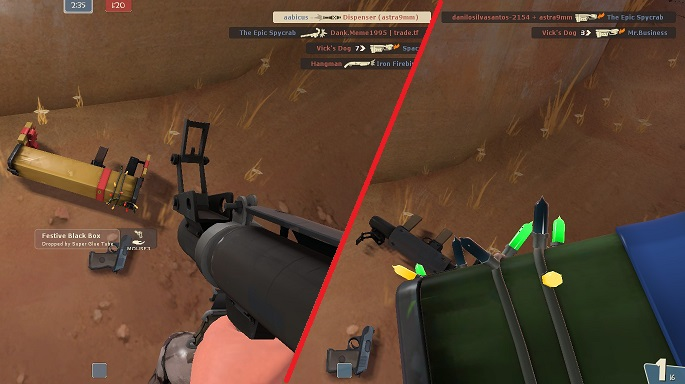 Minor complaint but it's also it's weird to see the skins change team color when the enemy picks them up.