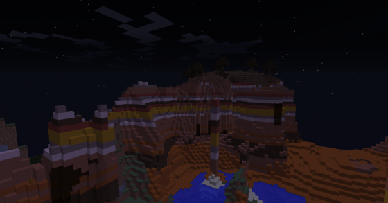 Mesa biomes are great as well. Not as good as the super rare Mushroom Biomes, but still cool.