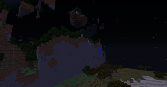 An example of how new worlds can generate weirdly between patches, when new biomes are involved.