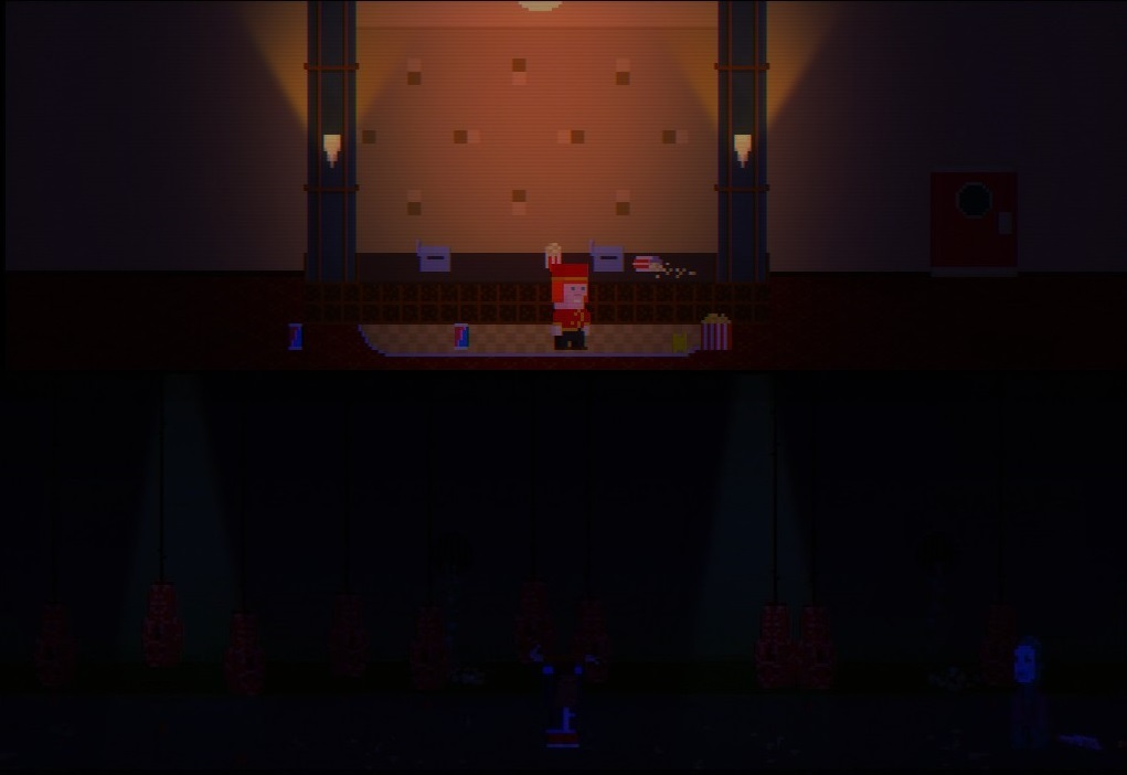The first place players will see is the movie theater, which serves as a hub where you can jump into whichever episode you like. It's the only zone I was able to solve all the puzzles without a walkthrough, but that should tell you more about me than the game. For the most part the items and puzzles were solved using logical and intuitive methods, and the dev deserves major kudos for just how many varieties of items he added into the game.