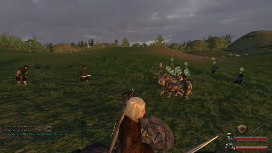 A bunch of peasants fighting a handful of lowly bandits. That's what your first few battles will look like.