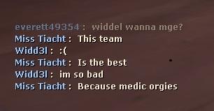 BECAUSE MEDIC ORGIES, OK.