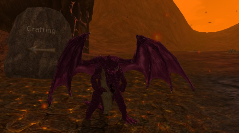 Look! A Playable Dragon character!