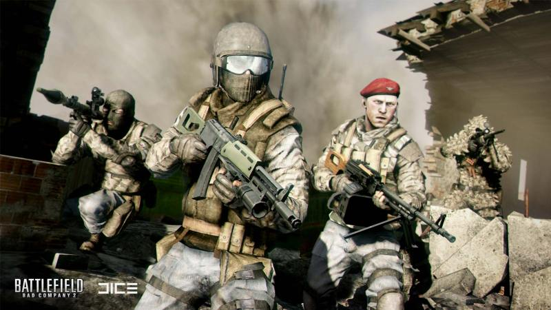 Left to right: Engineer, Assault, Medic, Recon.
