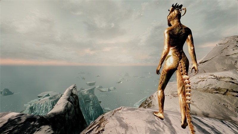 For obvious reasons, this image will be as bad as it gets. But seriously, if you're put off by a badly textured Argonian butt, I'm amazed you got this far.