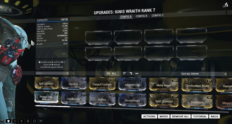 And here's a picture of the complete and utter lack of polarities the Ignis Wraith has.