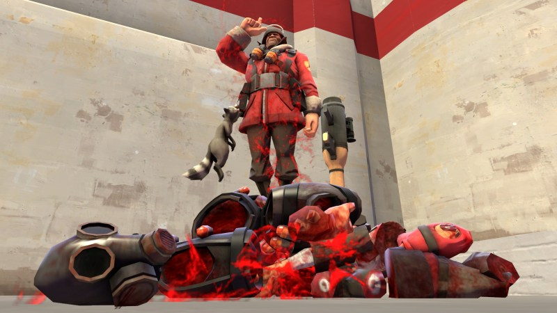 A pile of body parts amassed from many Direct Hit kills.