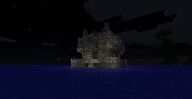 A floating jungle temple
