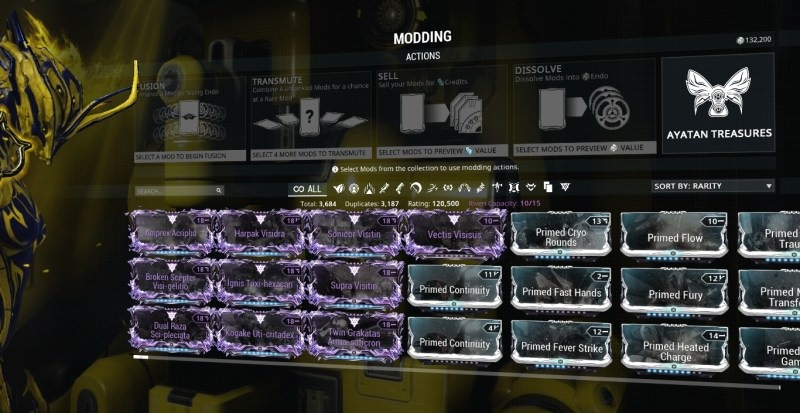 This is my current collection of riven mods.