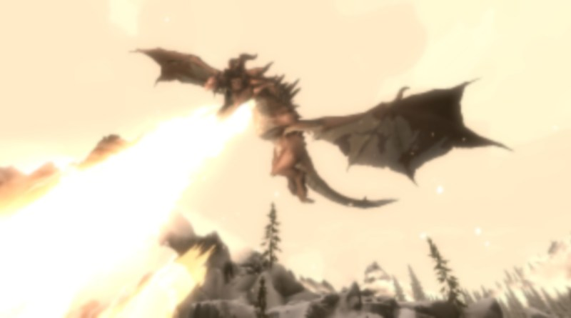 A Dragon in Skyrim