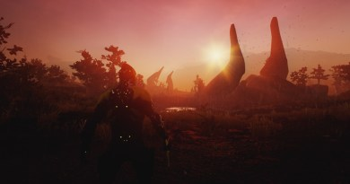 """""""Woah, pretty sunset. But Lotus says there's a big scary monster that comes out at night?"""""""