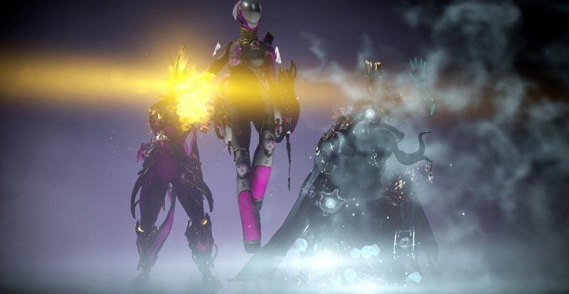 A collection of Warframes
