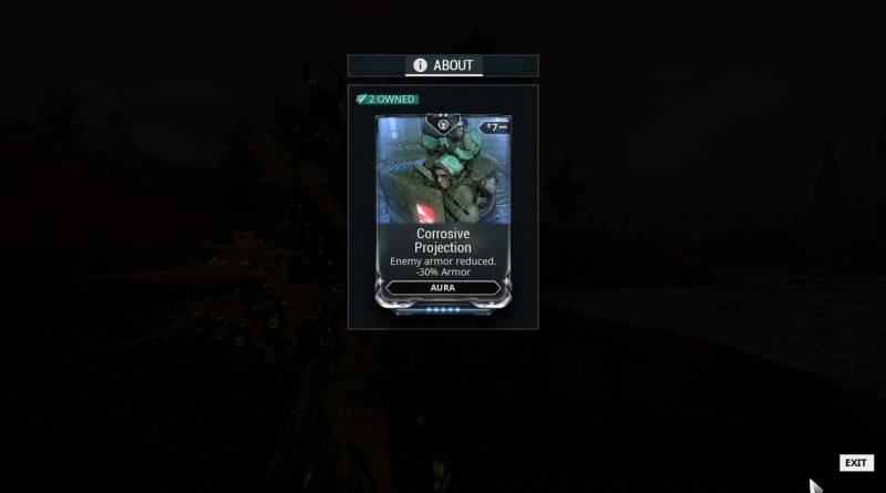 The Aura Mod Corrosive Projection