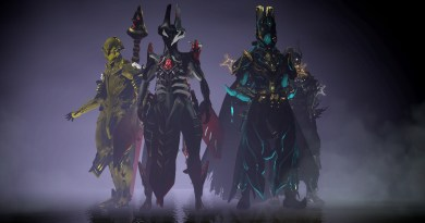 A bunch of Warframes