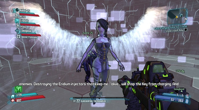 Yeah the whole Angel thing was pretty literal in Borderlands 2