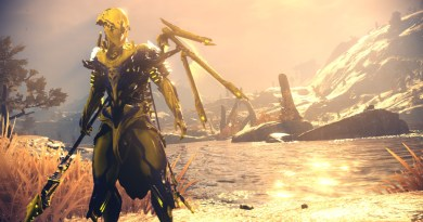 Volt Prime with Tennogen skin, Tennogen Syandana and default helmet