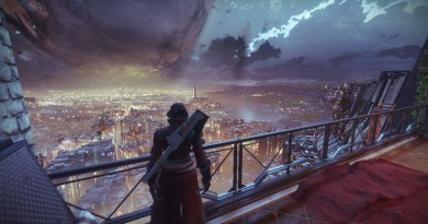 A view from the Tower in Destiny 2