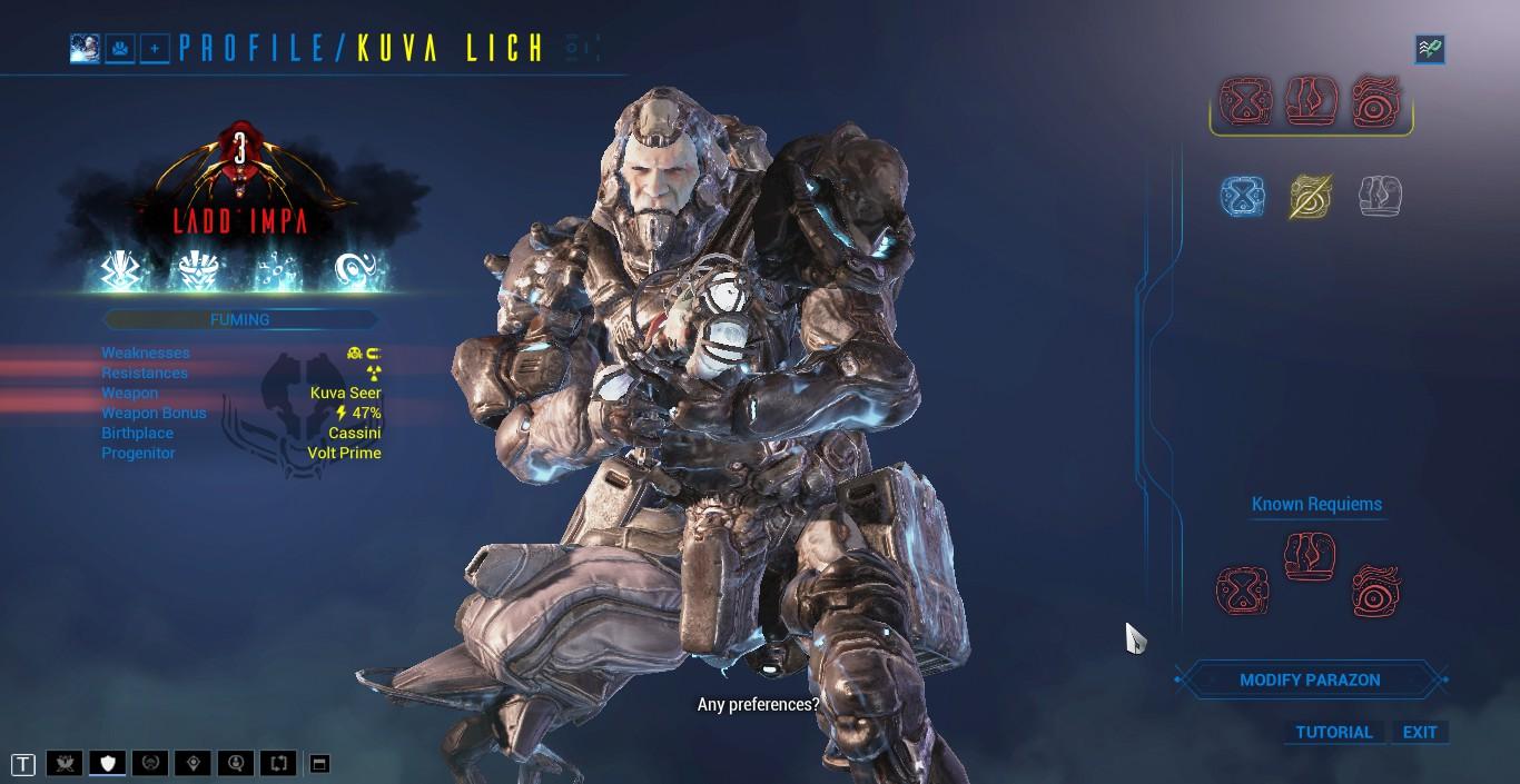 Image result for warframe Kuva Lich spawn