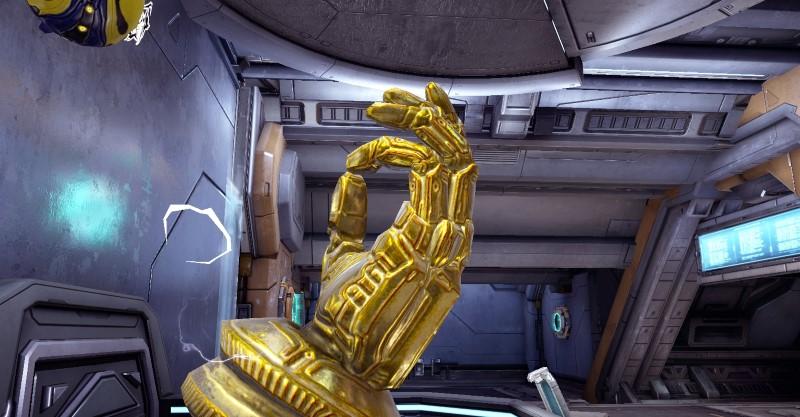 A golden hand