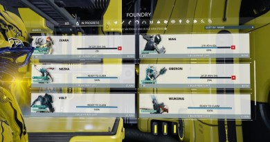 Just some of the Warframes I have ready to go.