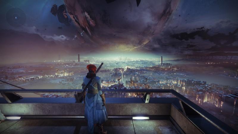 A Warlock staring at a Comatose Traveller.