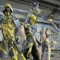 A Steel Meridian On Call Crew Member, a Volt and a Wisp Specter