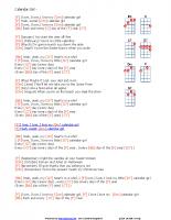 Calendar Girl – with chords key F