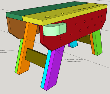 Split Top Saw Bench with Downloadable Plan – Woodworking Projects