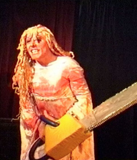 Carrie's chainsaw glee!