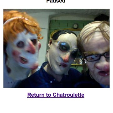 Spunkflakes lurking on Chatroulette