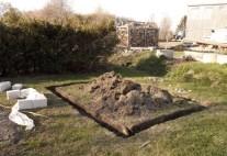 Utgrävningarna för växthusgrunden. juni2012