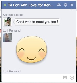 To Lori with Love for Kendall Louise