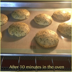 cookies in the oven