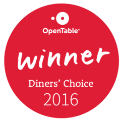 opentable diners choice 2016