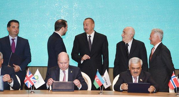 Церемония подписания нового Соглашения по месторождениям Азери Чыраг и Гюнешли