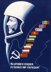 Somos amigos y construimos la páz y la reivindicación del espacio. 1982