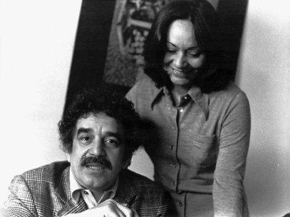 Márquez junto a su esposa Mercedes Barcha.